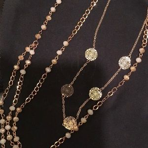 Jewelry - ** 3 for $45 SALE ** Rose Gold Tassel Necklace